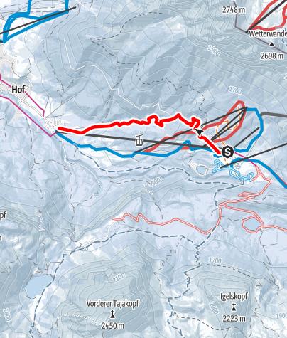 Karte / Ehrwalder Alm an der Zugspitze