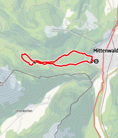 Karte / Um Lauter- und Ferchensee