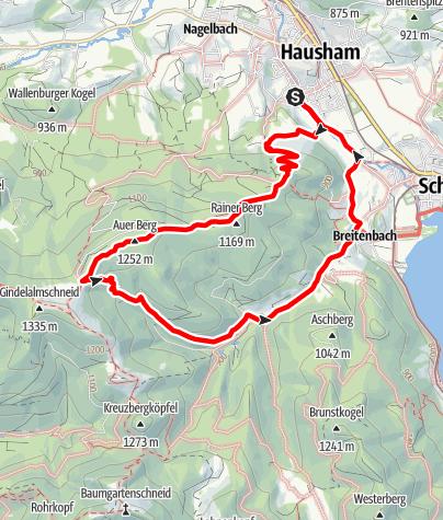 Karte / Genusstraumtour über die Huberspitz zur Gindelalm