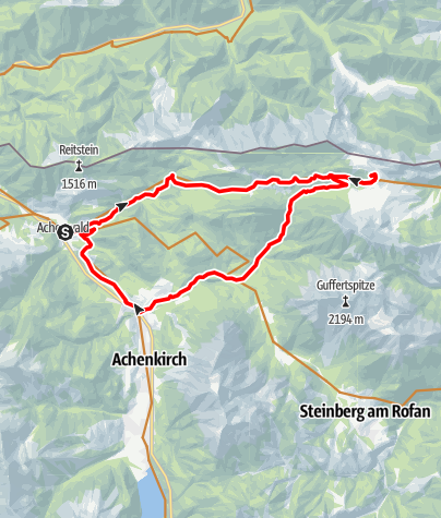 Karte / Von Achenwald zur Gufferthütte