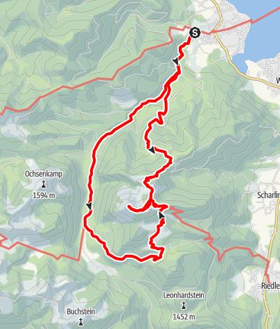 Karte / Gipfeltraumtour Hirschberg (von Bad Wiessee)