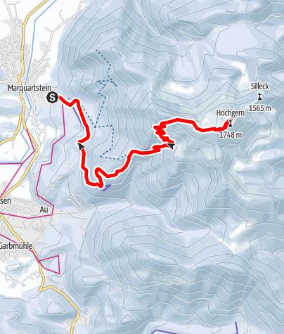 Map / Winterwanderung von Marquartstein hinauf zum Hochgern