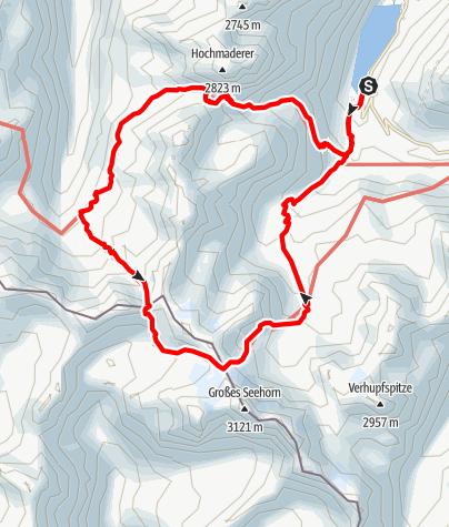 Karte / Vom Vermuntstausee zu Tübinger und Saarbrücker Hütte
