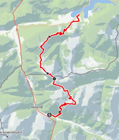 Map / Über Fleischbank und Schafreiter durchs Karwendelvorgebirge (Zweitagestour)