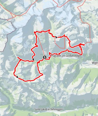 Karte / Achttälertour