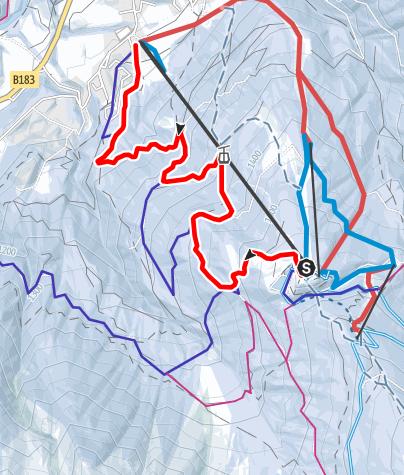 Karte / Hochserles im Stubai