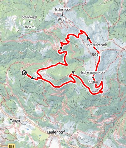 Karte / Rundwanderung Pichlhütte/Sommeregger Alm
