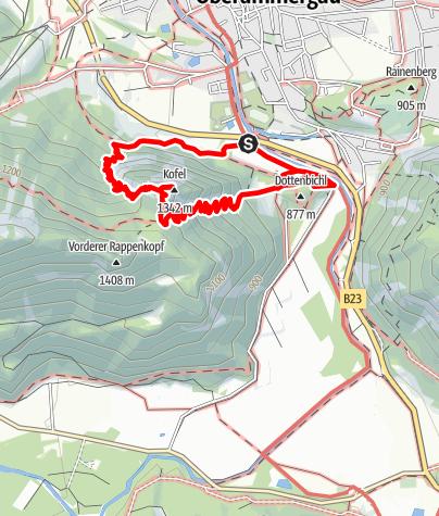 Karte / Auf den Kofel