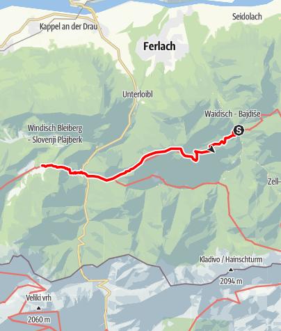 Map / 03 Südalpenweg, E12: Waidisch - Bodental/Sereinig