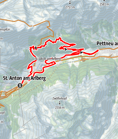 Karte / 2009-06-12 St. Anton NORD 1