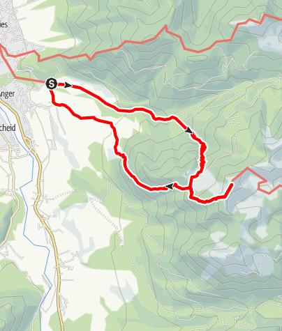 Karte / Von Lenggries zum Seekarkreuz