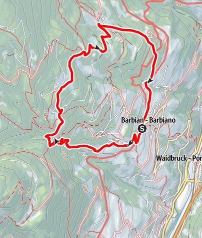 Karte / Von Barbian nach Bad Dreikirchen
