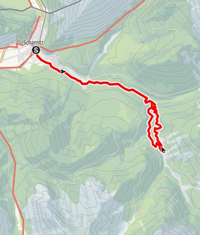 Karte / Rundwanderung ab Scharnitz durch die Gleirschklamm