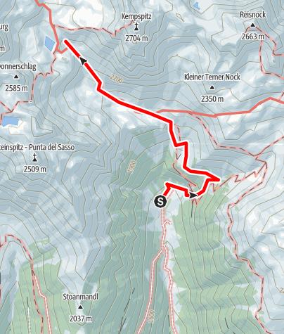Karte / Tiefrastenhütte von Winnebachtal