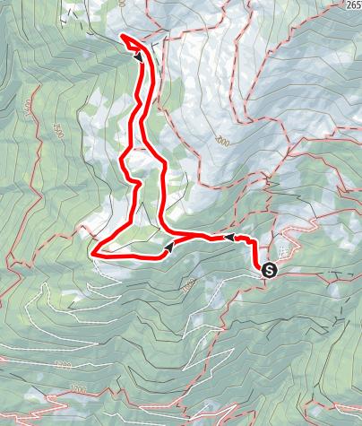 Karte / Die Blumen-Rund-Wanderung am Fuße des Scharniks