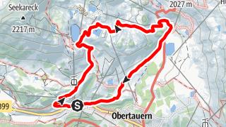 Karte / Grünwaldsee-Krummschnablsee-Hundsfeldssee-Obertauern