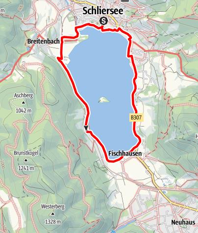 Karte / Runde um den Schliersee