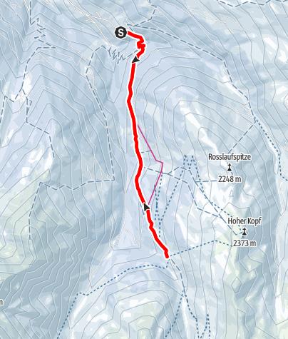 Karte / Rodelbahn zur Weidener Hütte bei Weerberg in den Tuxer Alpen