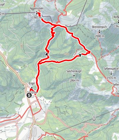 Karte / Von Grän auf den Aggenstein