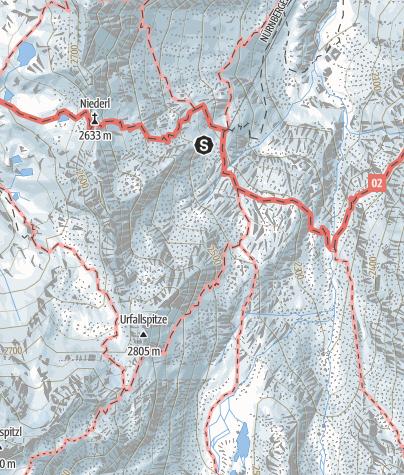 Map / VIA FERRATA NÜRNBERGER HUT C/D