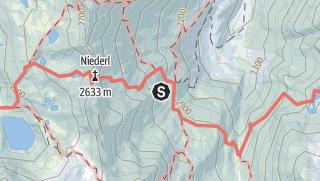 Karte / Klettersteig Nürnberger Hütte