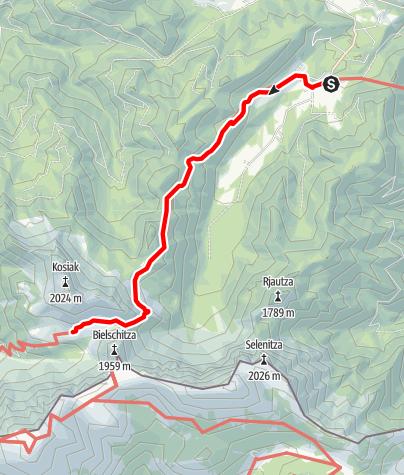 Map / 03 Südalpenweg, E13: Alpengasthof Sereinig - Klagenfurter Hütte