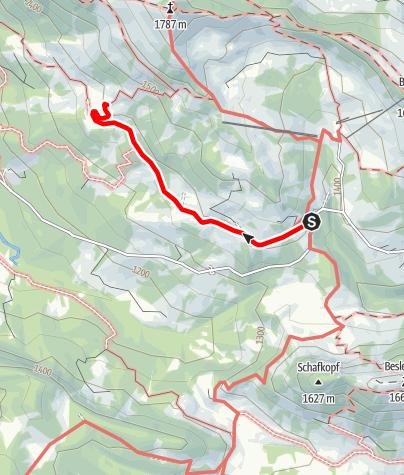 Karte / Zur Oberen Mittel-Alpe