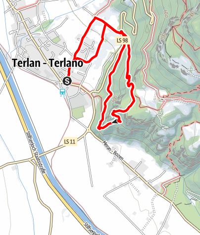 Karte /  Zur Burgruine Maultasch