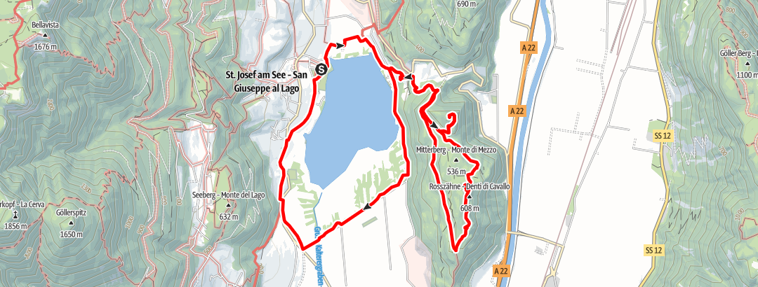 Karte / Leuchtenburg und Rosszähne