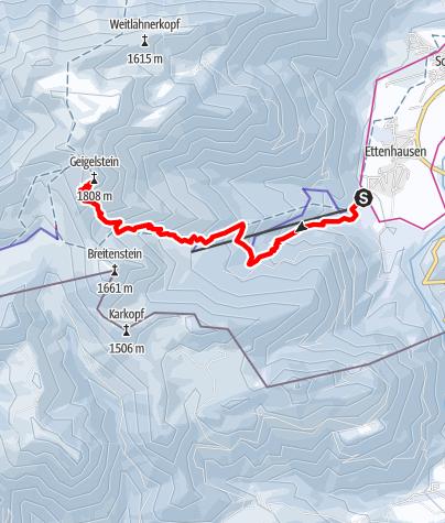 Karte / Geigelstein