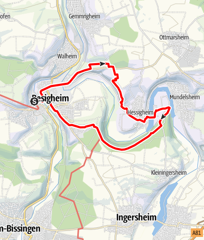 Karte / Neckar, Wein und Felsengärten