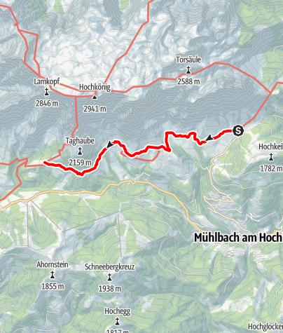Karte / Luftige Höhen am Hochkönig