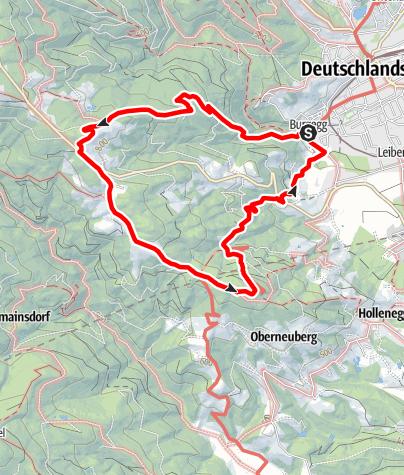 Karte / Rundweg über Ruhri Panoramaweg (Weg Nr. 13) nach Wolfgangi und zurück nach Deutschlandsberg