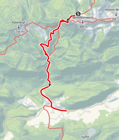 Karte / Von der Tutzinger Hütte nach Jachenau