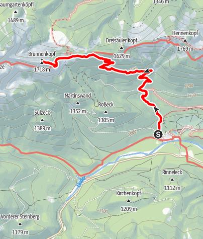 Karte / Brunnenkopf