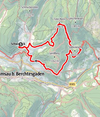 Karte / Nutzkaser > Toter Mann > Soleleitungsweg > Nutzkaser
