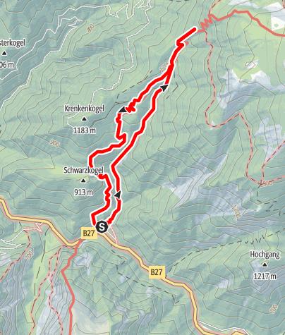 Karte / Weichtalklamm