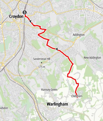 Karte / Vanguard Way Stage 1