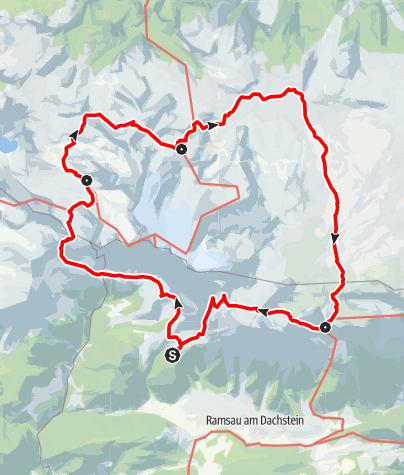 Karte / Dachsteinhüttenrunde bis 2018