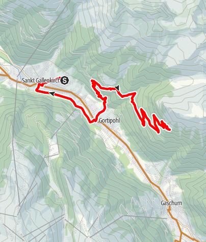 Karte / Bike & Hike Tour Grappeskopf