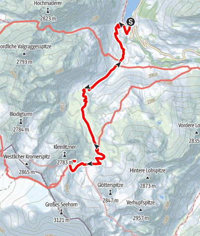 Karte / Saarbrückner Hütte