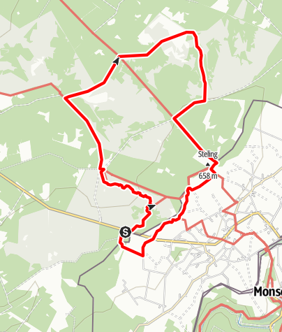Karte / Hautes Fagnes à la frontière allemande