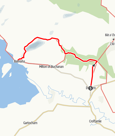 Karte / Drymen to Balmaha via Conic Hill