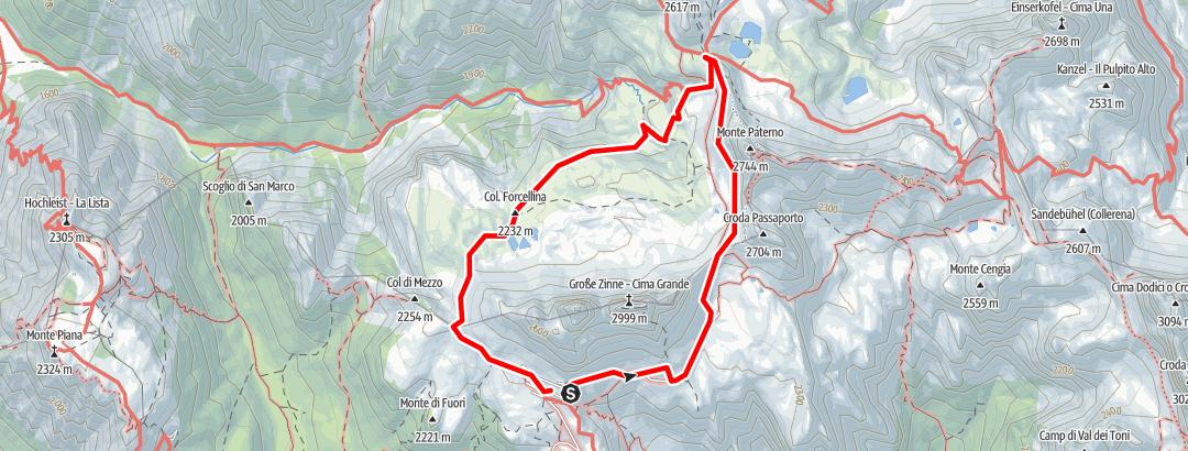 Map / Giro 3 cime di Lavaredo