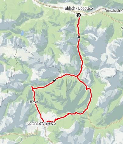 Map / Passo Tre Croci - Runde