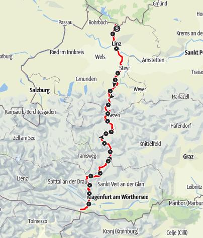 Karte / Österreichischer Weitwanderweg 9 (Salzsteig)