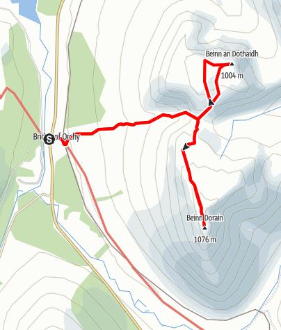 Karte / Beinn Dorain & Beinn an Dothaidh, Bridge of Orchy
