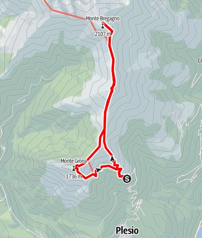 Karte / Monte Bregagno (2107 m) e Monte Grona (1736 m)