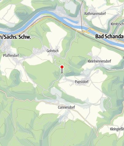 Karte / Wanderparkplatz am Gohrisch/Papststein