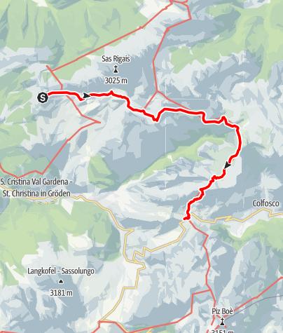 Karte / Durch die Puezgruppe